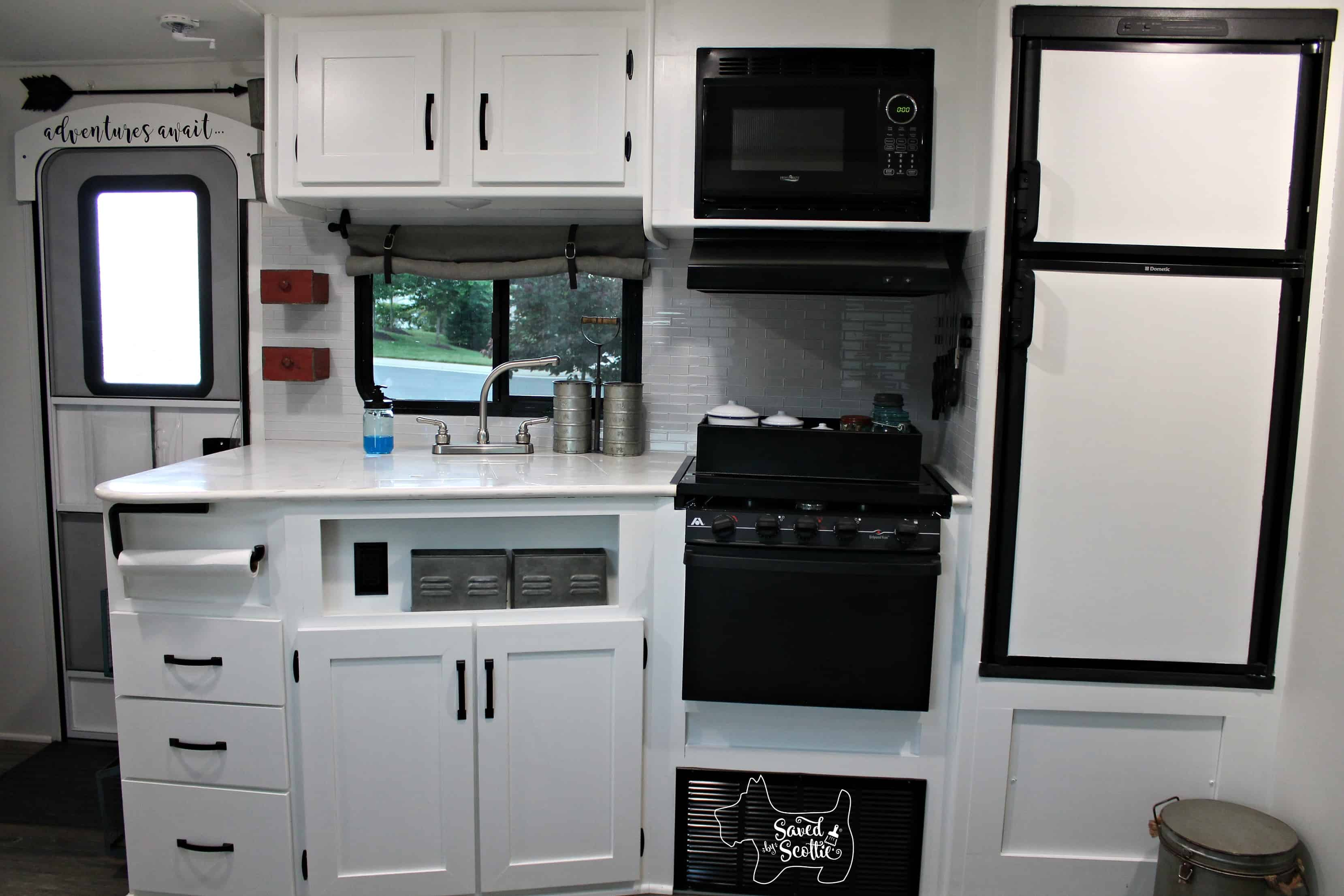 rv remodel after kitchen full view