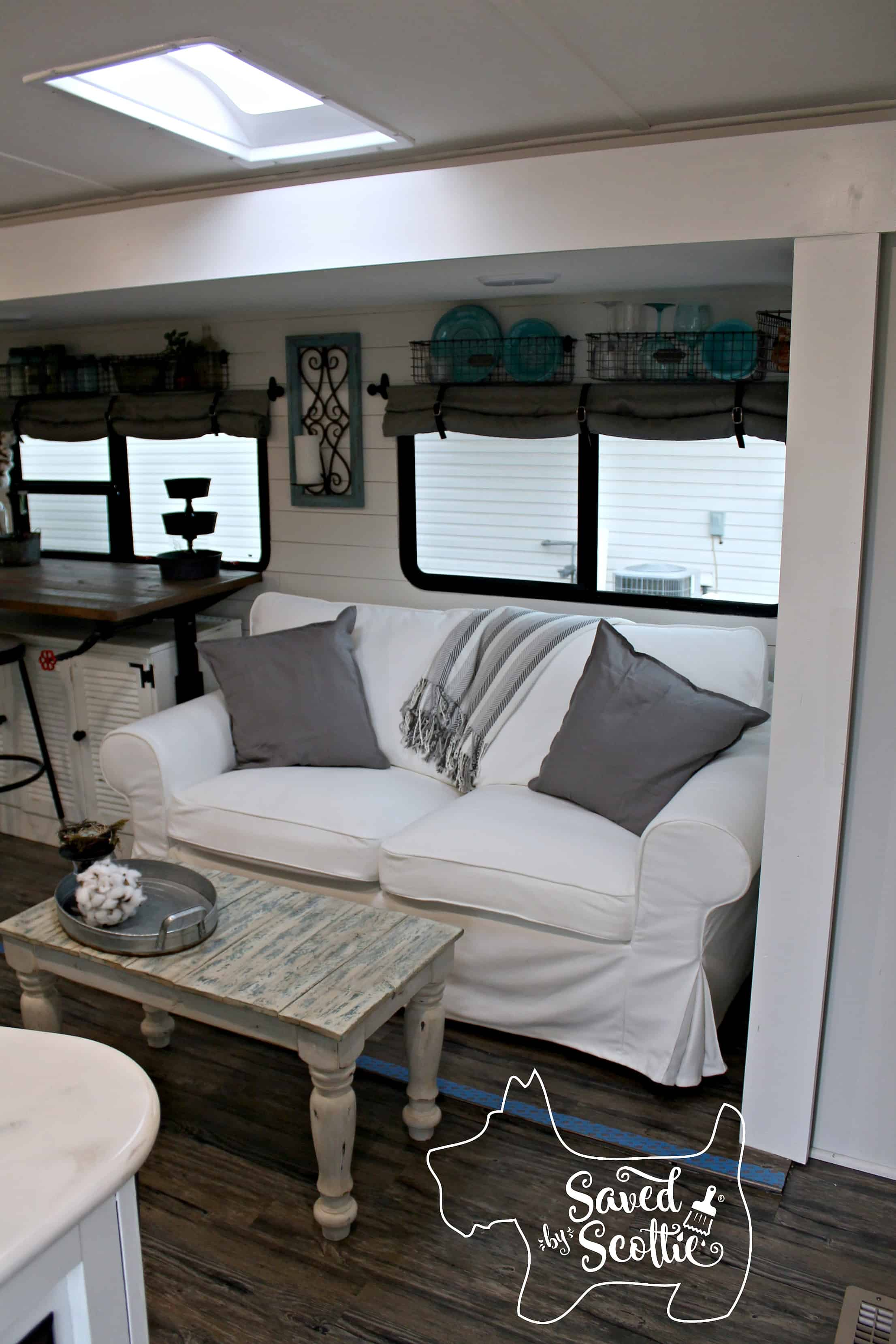 rv remodel after living room view