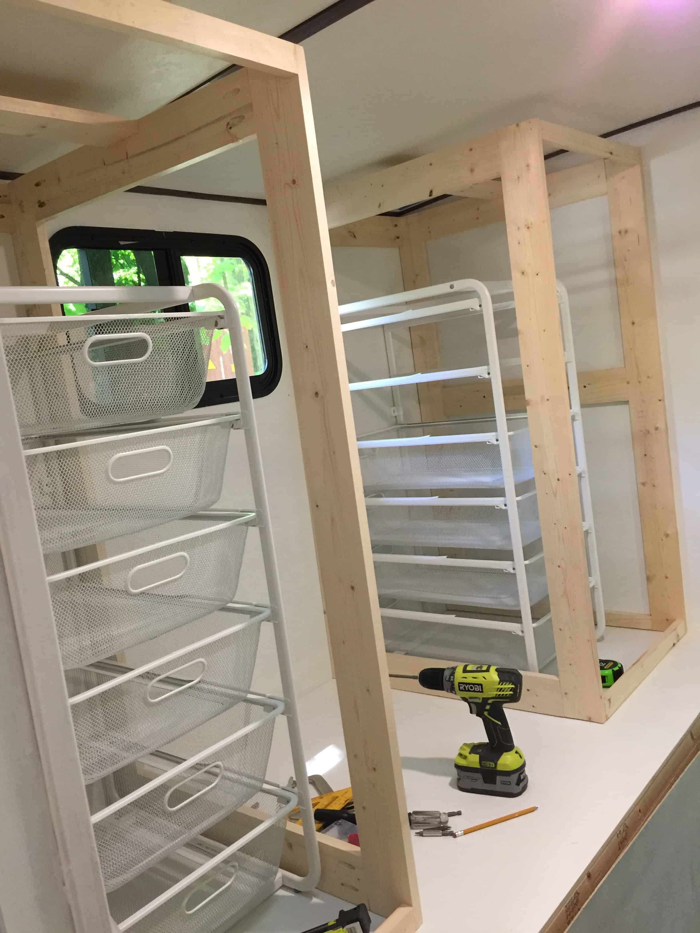 Saved by Scottie rv remodel cabinet build dresser cabinets in place
