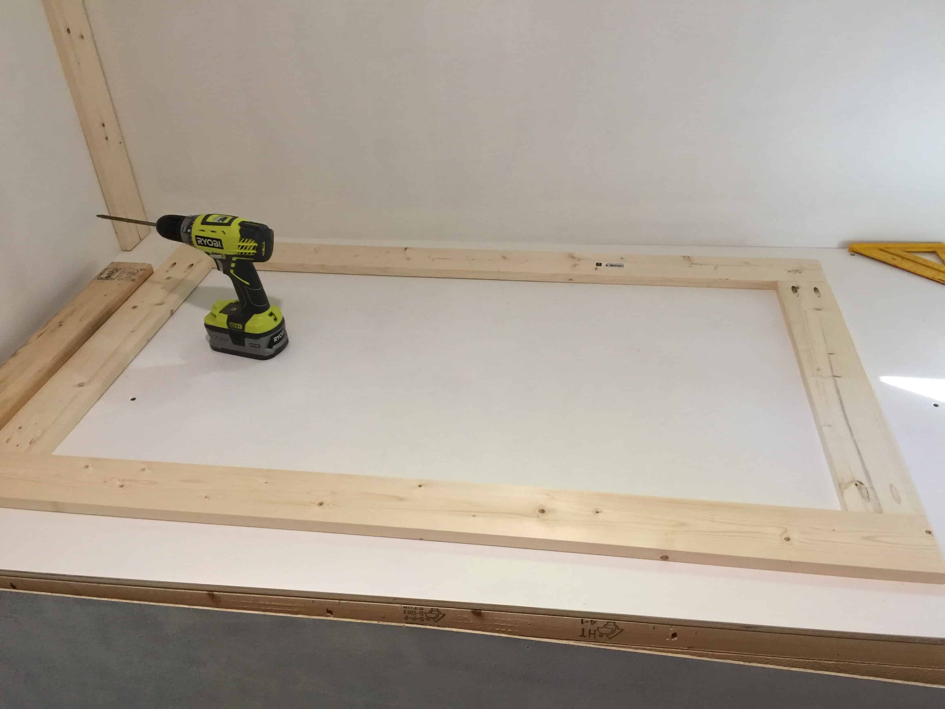 rv remodel cabinet build dresser outside wall assembly