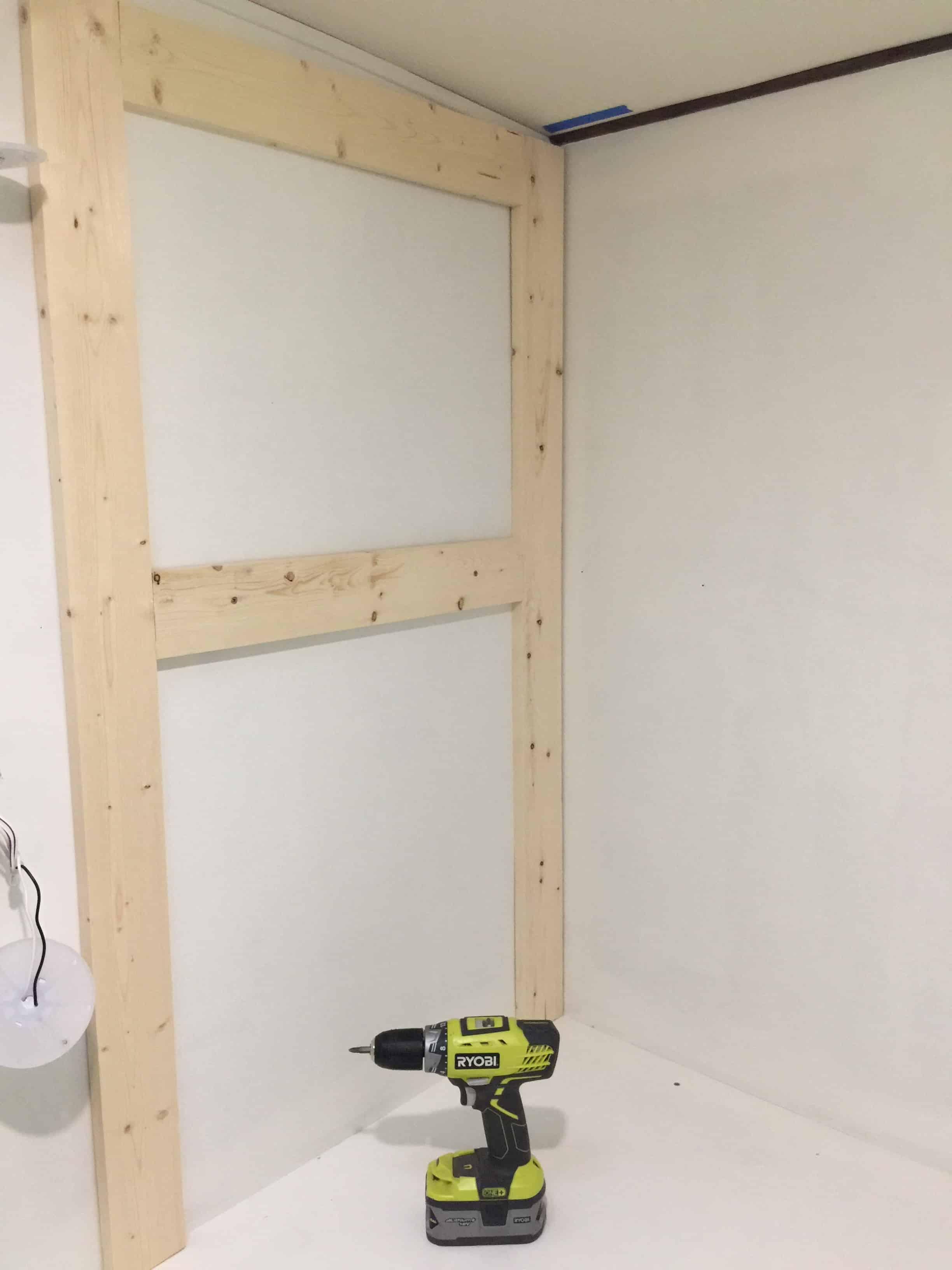rv remodel cabinet build dresser support going up