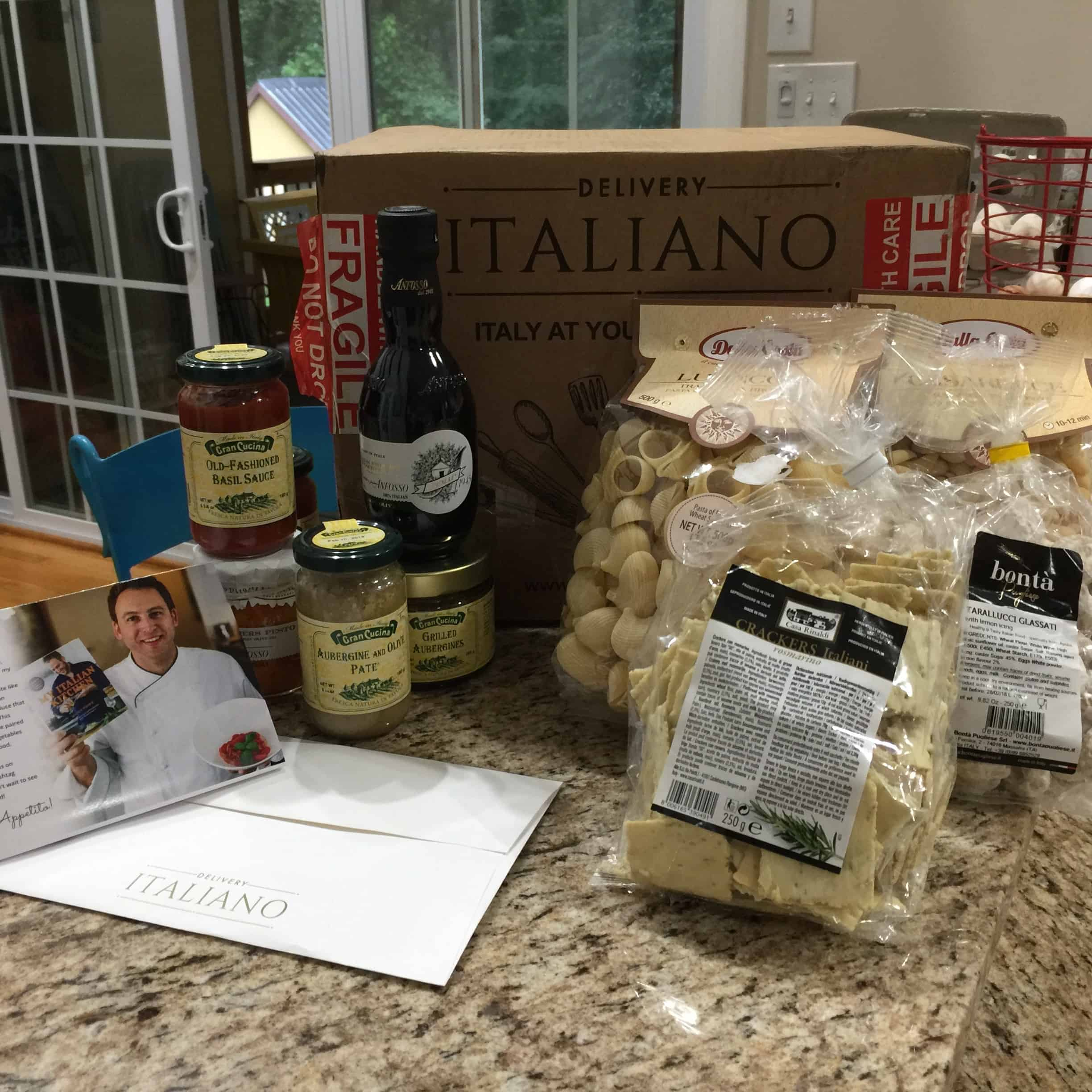 Saved by Scottie Delivery Italiano box contents