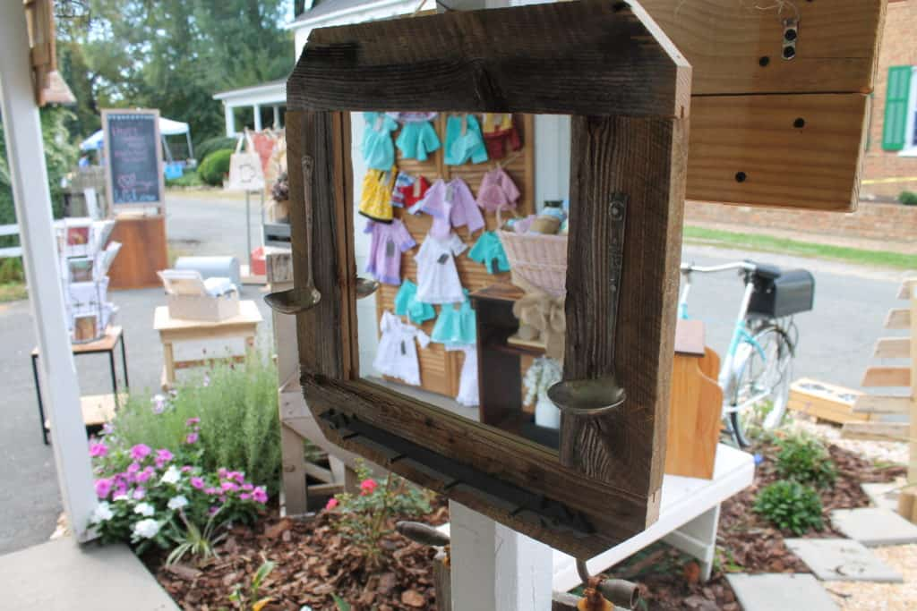 Saved by Scottie The Painted Pig opening day front porch mirror