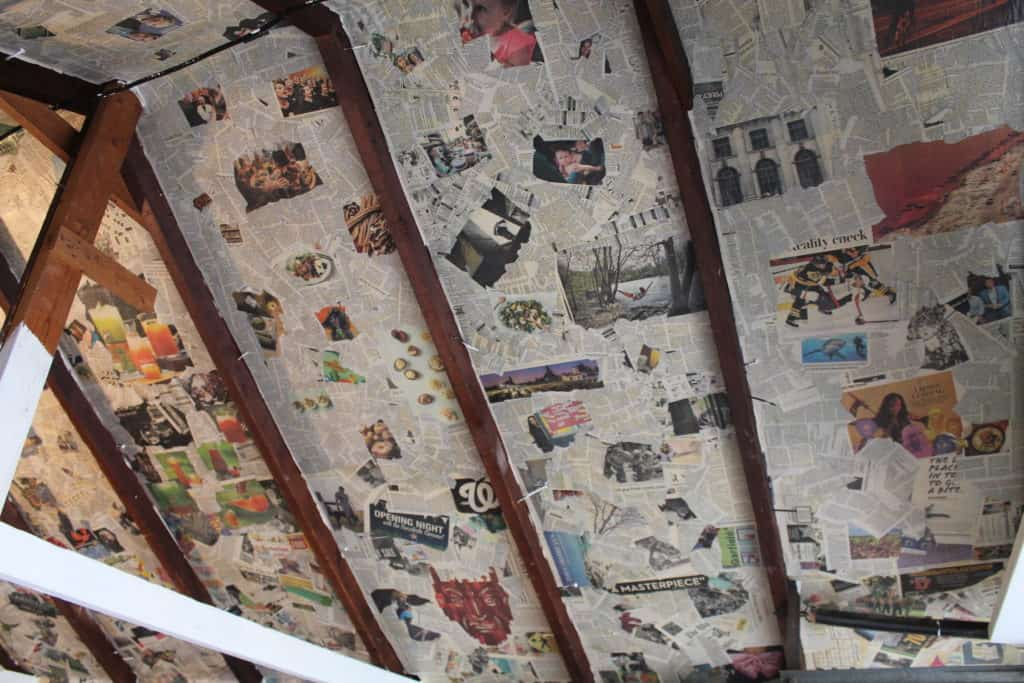 Saved by Scottie The Painted Pig opening day garage ceiling