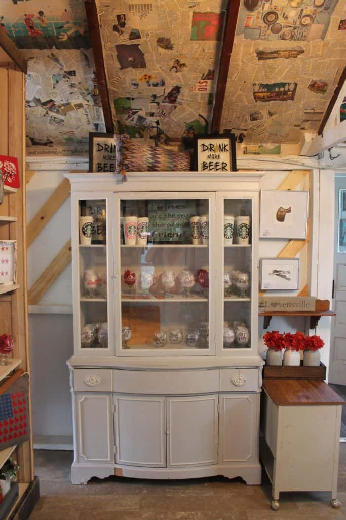 Saved by Scottie The Painted Pig opening day garage china cabinet