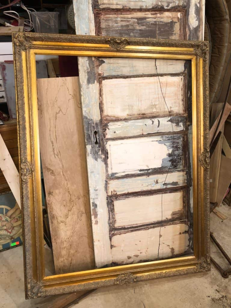 Saved by Scottie jewelry frame before