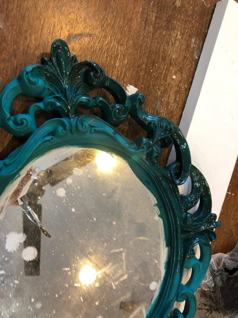 Saved by Scottie jewelry frame mirror glaze