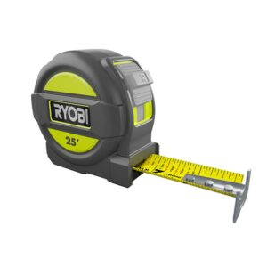 ryobi tape measure with rubber overmold