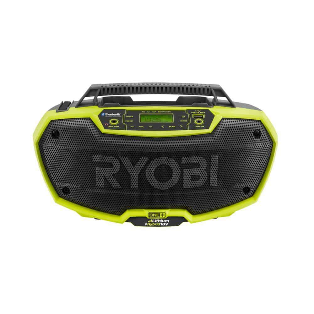 ryobi one plus hybrid radio with bluetooth