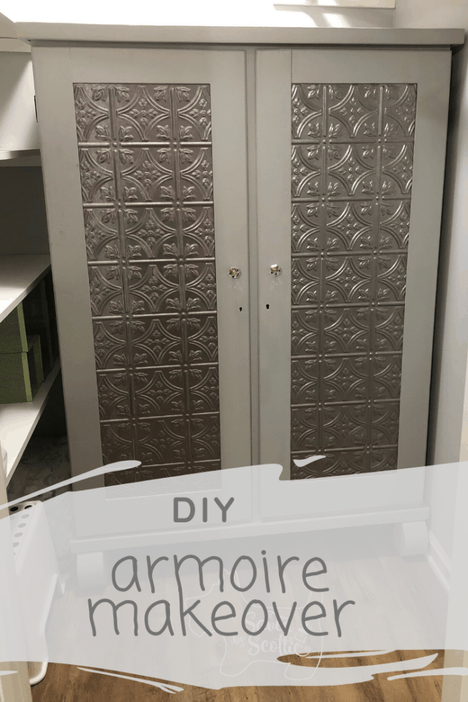pinnable image of closed fasäde panel armoire in closet