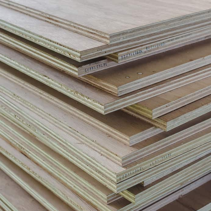 stacked plywood showing the layered edges