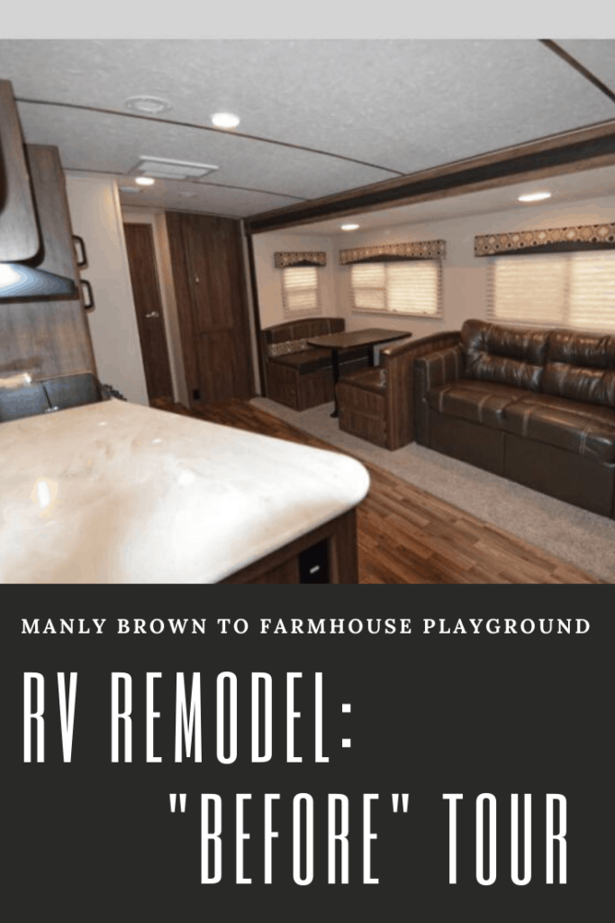pinnable image linking to the rv remodel before blog post