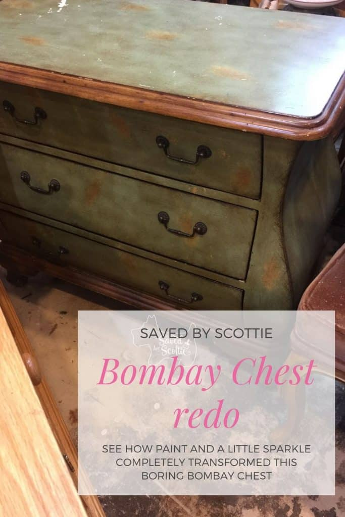 pinnable image of original bombay chest redo image leading back to blog post of how it was done.
