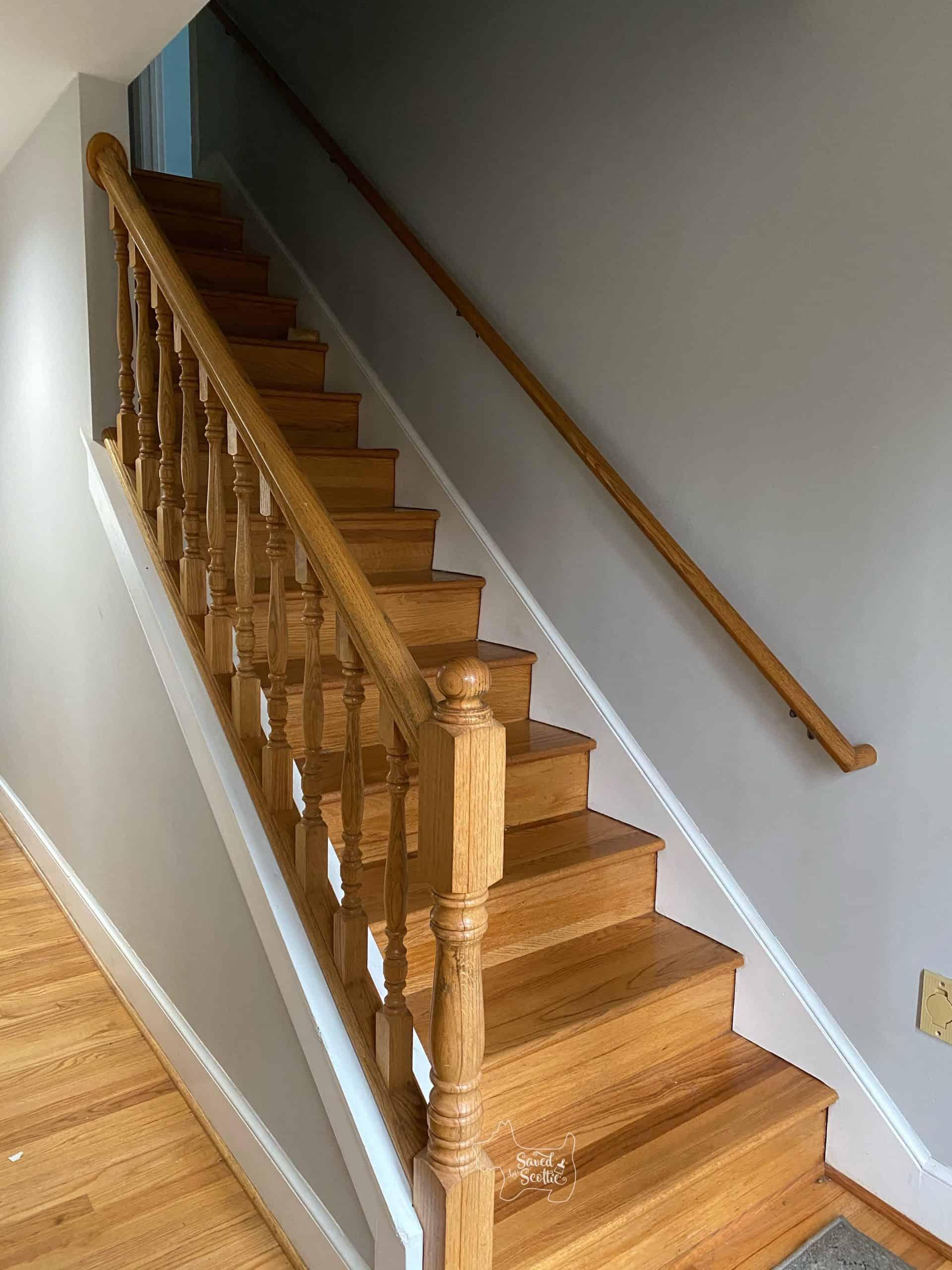 Painted Stair Railings - Saved by Scottie
