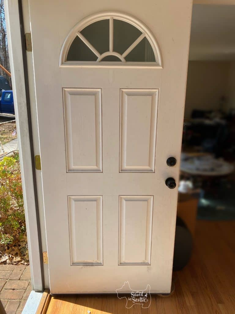 full view of white front door.