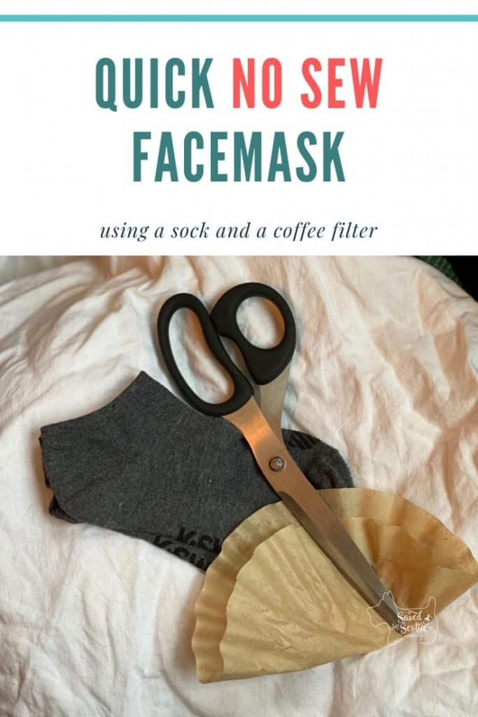 pinnable image leading back to no sew facemask post