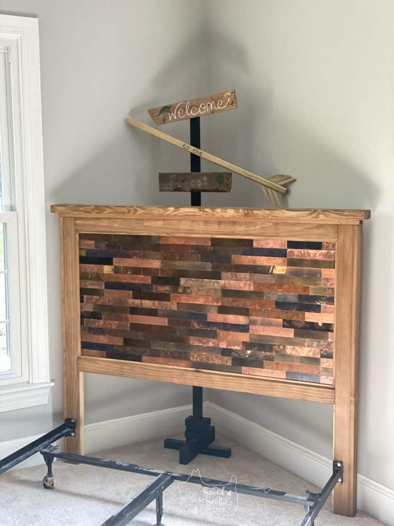 diy headboard attached to bedframe
