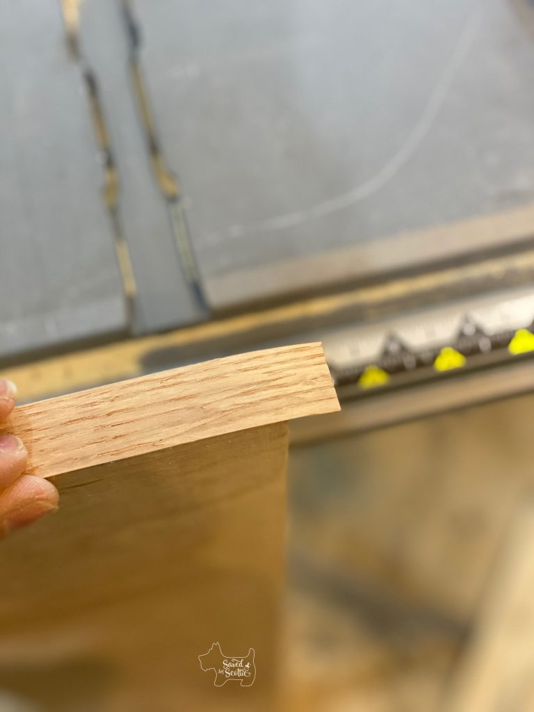 veneer edging in application process after heat melt adhesive activated